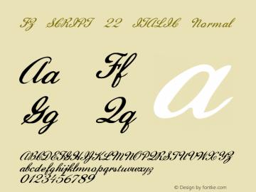 FZ SCRIPT 22 ITALIC Normal 1.000 Font Sample