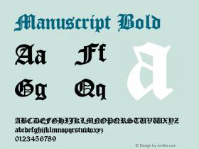 Manuscript Bold Rev. 003.000 Font Sample