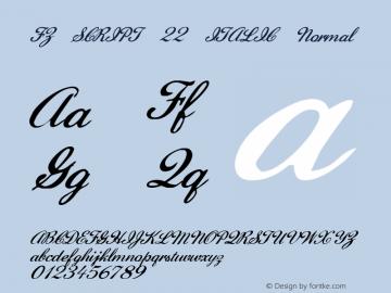 FZ SCRIPT 22 ITALIC Normal 1.0 Fri Apr 22 00:14:58 1994 Font Sample