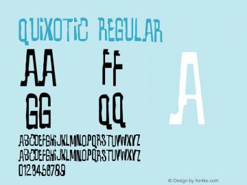 Quixotic Regular OTF 3.000;PS 001.001;Core 1.0.29 Font Sample