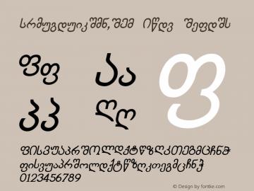 Chveulebrivy-ITV Bold Italic 1.000 Font Sample