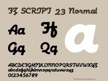 FZ SCRIPT 23 Normal 1.000 Font Sample