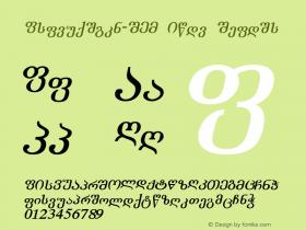 Academiury-ITV Bold Italic 1.000 Font Sample