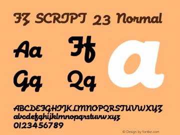 FZ SCRIPT 23 Normal 1.0 Fri Apr 22 00:03:47 1994 Font Sample