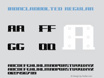 IronCladBolted Regular 001.000 Font Sample