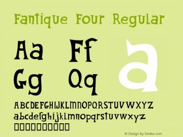 Fantique Four Regular 00.100.75 Font Sample