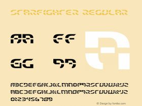 Starfighter Regular 1 Font Sample
