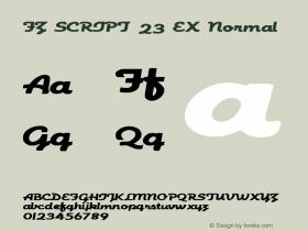 FZ SCRIPT 23 EX Normal 1.000 Font Sample