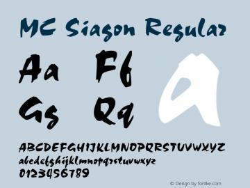 MC Siagon Regular MC 1.0 Font Sample