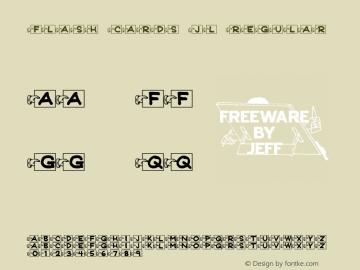 Flash Cards JL Regular Version 1.00 Font Sample