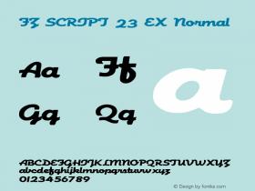 FZ SCRIPT 23 EX Normal 1.0 Fri Apr 22 00:09:14 1994 Font Sample