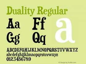 Duality Regular Version 5.000 Font Sample