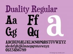 Duality Regular OTF 5.000;PS 001.001;Core 1.0.29 Font Sample