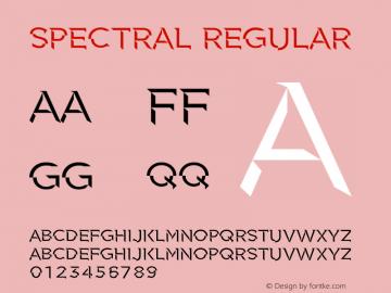 Spectral Regular 1 Font Sample