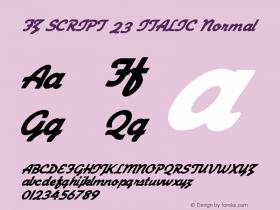 FZ SCRIPT 23 ITALIC Normal 1.000 Font Sample