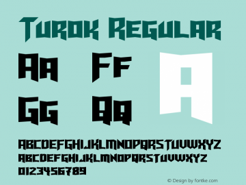Turok Regular Version 1.10 May 17, 2015 Font Sample