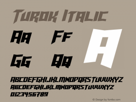 Turok Italic Version 1.10 May 17, 2015 Font Sample