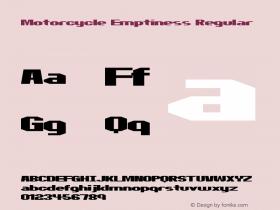 Motorcycle Emptiness Regular 2 Font Sample