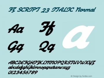 FZ SCRIPT 23 ITALIC Normal 1.0 Fri Apr 22 00:07:44 1994 Font Sample