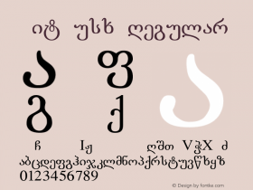 LitNusx Regular Converted from E:\LLITERN.TF1 by ALLTYPE Font Sample