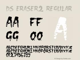 DS Eraser2 Regular Version 1.0; 2000; initial release Font Sample