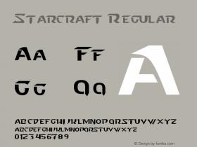 Starcraft Regular Version 2.10 October 26, 2011 Font Sample