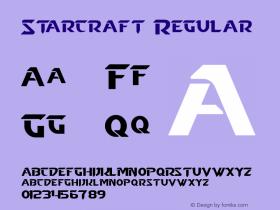 Starcraft Regular Version 1.50 December 17, 2013 Font Sample