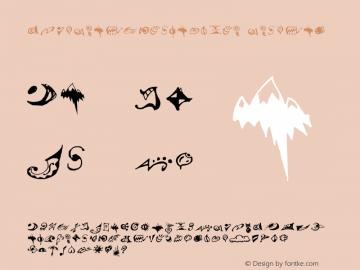 VTSuRealDingbatsOne Regular Macromedia Fontographer 4.1.2 3/13/96 Font Sample