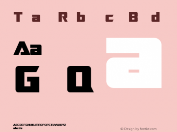TransRobotics Bold Macromedia Fontographer 4.1 3/12/99 Font Sample