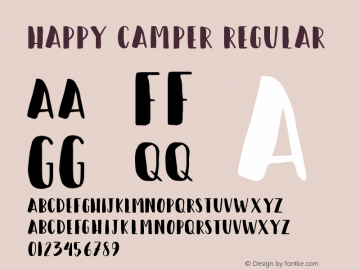 Happy Camper Regular Version 100 Font Sample