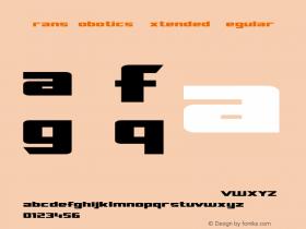 TransRobotics Extended Regular Macromedia Fontographer 4.1 3/12/99 Font Sample