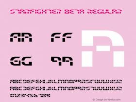Starfighter Beta Regular 1 Font Sample