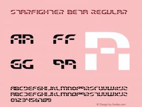 Starfighter Beta Regular 2 Font Sample