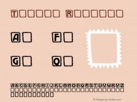 Takker Regular 12-03-98 Font Sample