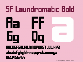 SF Laundromatic Bold ver 1.0; 2000. Freeware for non-commercial use. Font Sample