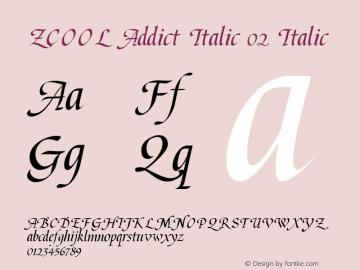 ZCOOL Addict Italic 02 Italic 1.0图片样张