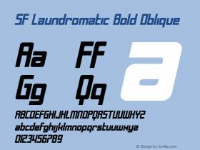 SF Laundromatic Bold Oblique Version 1.1 Font Sample