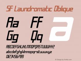 SF Laundromatic Oblique Version 1.1 Font Sample