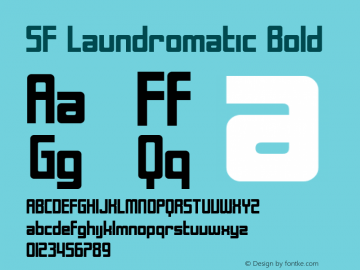 SF Laundromatic Bold Version 1.1 Font Sample