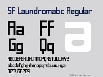 SF Laundromatic Regular Version 1.1 Font Sample