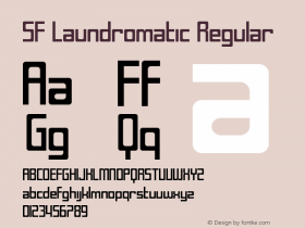 SF Laundromatic Regular ver 1.0; 2000. Font Sample