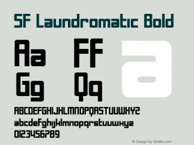 SF Laundromatic Bold ver 1.0; 2000. Font Sample