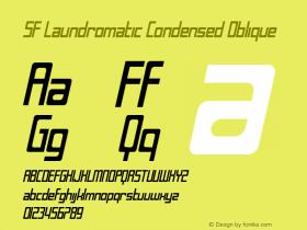 SF Laundromatic Condensed Oblique Version 1.1 Font Sample