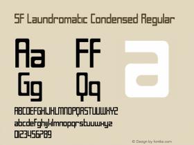 SF Laundromatic Condensed Regular Version 1.1 Font Sample