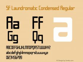 SF Laundromatic Condensed Regular ver 1.0; 2000. Font Sample