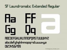 SF Laundromatic Extended Regular Version 1.1 Font Sample