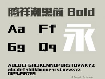 腾祥潮黑简 Bold Version  1.00图片样张