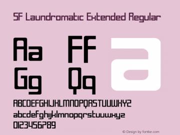 SF Laundromatic Extended Regular ver 1.0; 2000. Font Sample