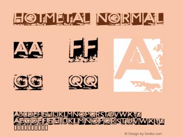 HOTMETAL Normal Macromedia Fontographer 4.1.4 3/23/2000 Font Sample