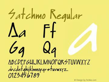 Satchmo Regular Macromedia Fontographer 4.1 2000-03-12 Font Sample